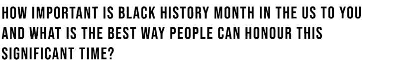 Black History Month Importance