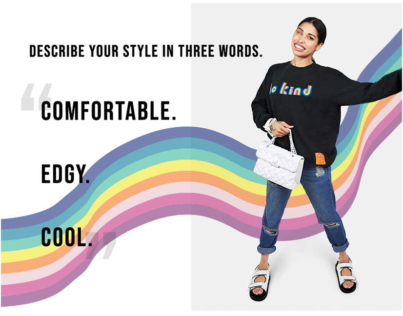Comfortable, edgy and cool