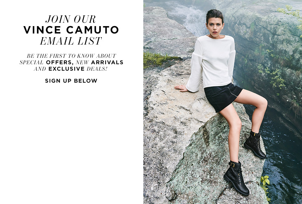 Join our Vince Camuto email list