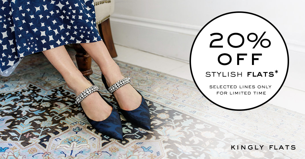 20% Promotion Off Stylish Flats