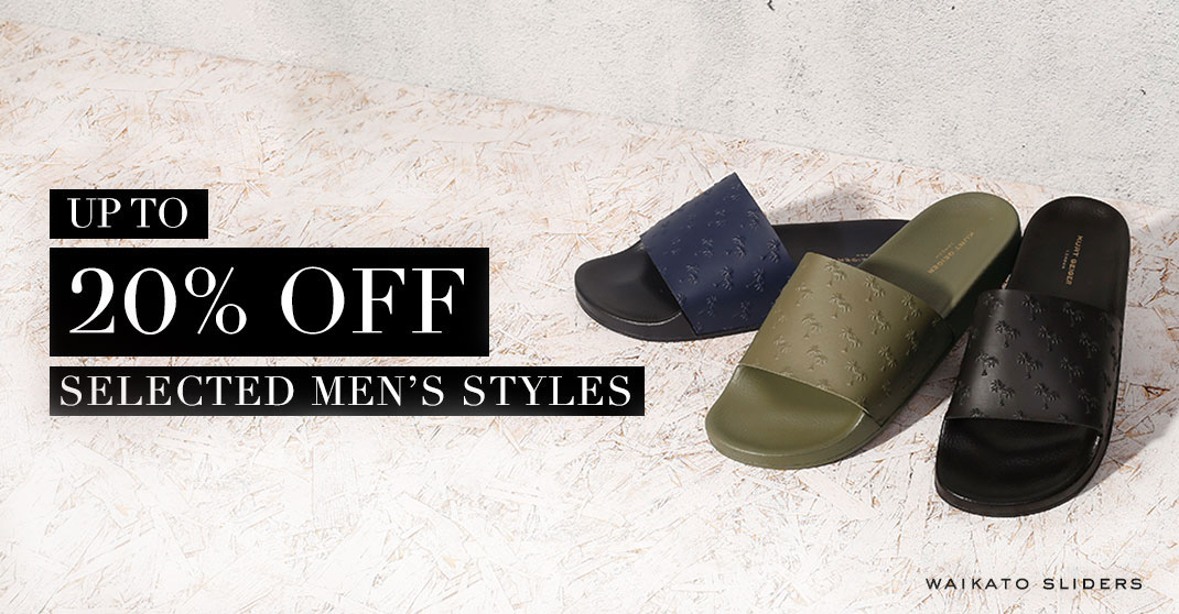 20% off men's selected styles