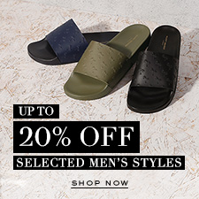 20% Off Selected Men's Styles - Shop Now