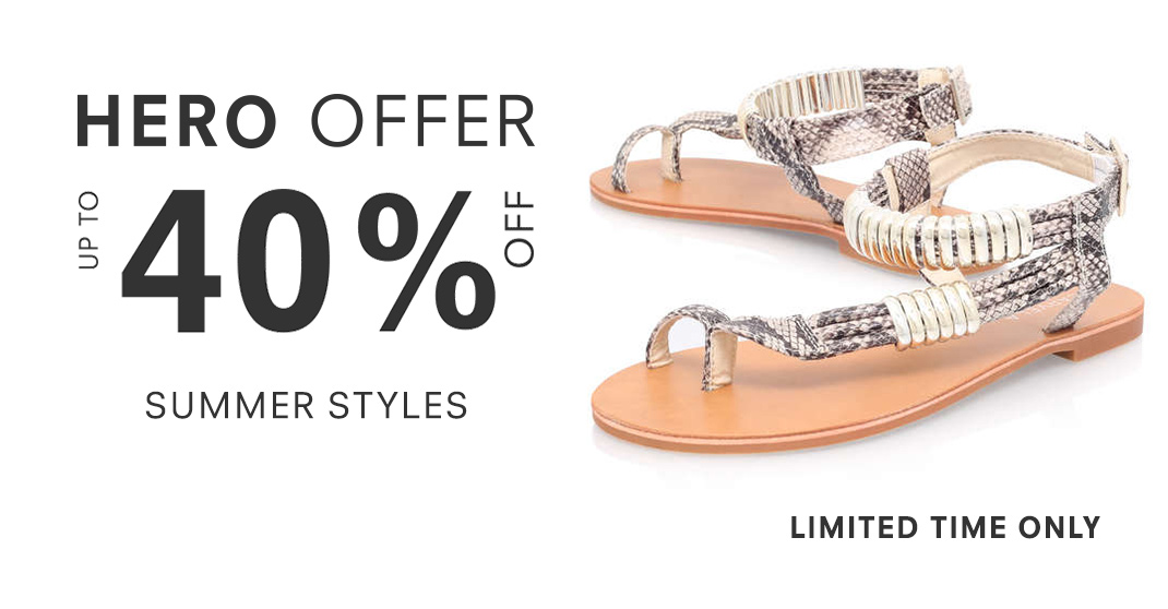 eec8a60e7f9 Hero Offer - Up To 40% Off Summer Styles - Limited Time Only