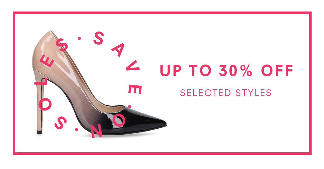 Up To 30% Off Selected Styles