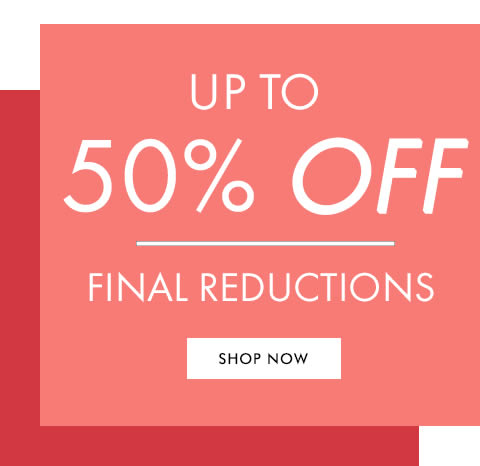 SHOP SALE - UP TO 50% OFF