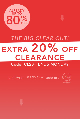 Extra 20% off all clearance