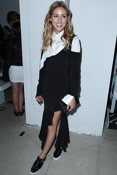 Olivia Palermo wears Kurt Geiger London