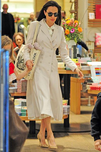 Angelina Jolie wears Kurt Geiger London