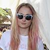 Sophie Turners wears KG Kurt Geiger