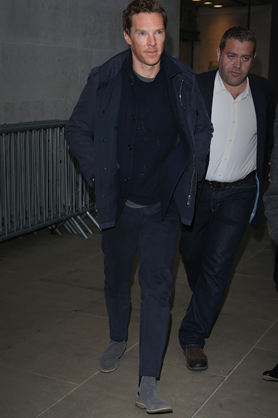 Benedict Cumberbatch wears KG Kurt Geiger