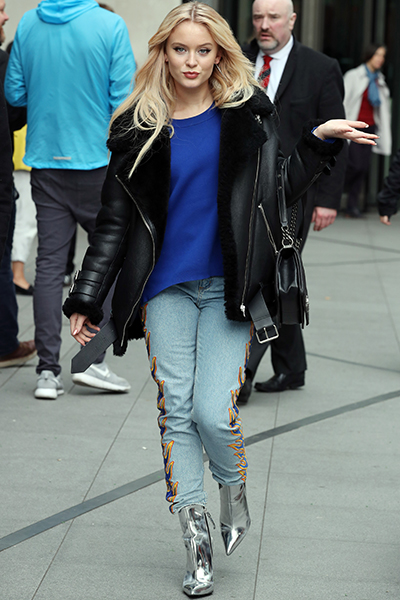 Zara Larsson wears Carvela Kurt Geiger