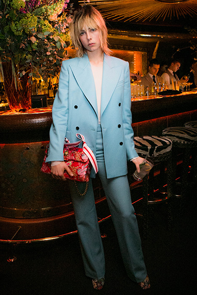 Edie Campbell hosts Spring Summer dinner