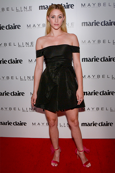 Lili Reinhart wears Kurt Geiger London
