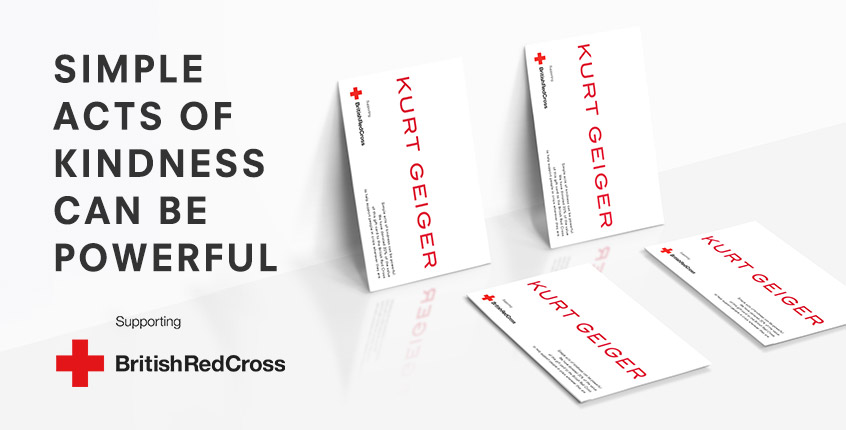 kurt geiger supports the british red cross